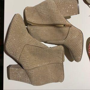 Shoemint heeled camel booties